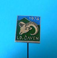 HUNTING SOCIETY CAVEN - MOUFFLON ... Slovenia Old Pin * Chasse Caza Jagd Caccia Caça Mufflon Muflone Muflon Wild Sheep - Animaux