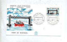 Lettre Fdc 1968 Rochefort Pont Martrou - FDC