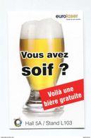 """Monnaie Carton Jeton Société Euro-Laser """"Vous Avez Soif ? Voilà Une Bière Gratuite"""" Free Beer Token - Freies Bier-Token - Professionnels / De Société"""