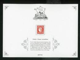 FRANCE - N°Yt BS10A ** TRESORS DE LA PHILATÉLIE 2019 - CERES VERMILLON - Mint/Hinged