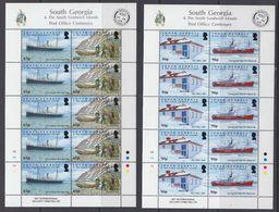 South Georgia & South Sandswich Islands 2009 Pot Office Centenary 2x2v Sheetlets ** Mnh (48493) - Géorgie Du Sud