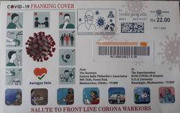Coronavirus / Covid-19, Deadly Disease India Meter Franking EMA Meter Mark Covid Special Cover India Corona Warriors - Malattie