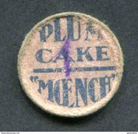 """Peu Courant ! Jeton Carton Ets MOENCH & Fils à Nancy Contremarqué 1 """"Plum Cake Moench"""" Levure Alsa - Monétaires / De Nécessité"""