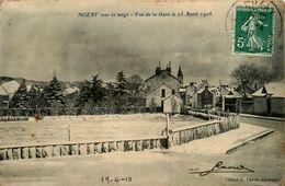 Nozay * Sous La Neige * Vue De La Gare Le 25 Avril 1908 - France