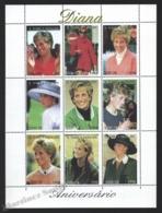 Sao Tome & Principe 1998 Yvert 1291W-91AE, Royalty. Tribute Diana Princess Wales - Miniature Sheet - MNH - Sao Tomé E Principe
