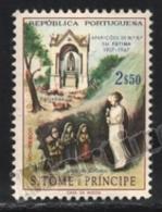 Sao Tome & Principe 1967 Yvert 402, Religion. Christianity. Fatima Marian Apparitions. Virgin & Sheperd Children - MNH - Sao Tomé E Principe