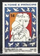 Sao Tome & Principe 1981 Yvert 648, Christmas. Art. Picasso Centenary, Painting - MNH - Sao Tomé E Principe
