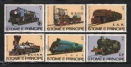 Sao Tome & Principe 1982 Yvert 721-26, Trains. Railway History, Steam Locomotives - MNH - Sao Tomé E Principe