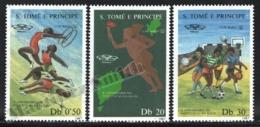 Sao Tome & Principe 1987 Yvert 881-83, Sports. Organizations. 10th Anniv DGD, Athletes - MNH - Sao Tomé E Principe