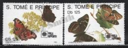 Sao Tome & Principe 1991 Yvert 1062-63, Fauna. Insects, Butterflies - MNH - Sao Tomé E Principe