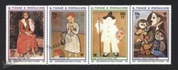 Sao Tome & Principe 1981 Yvert 649-52, Art. Paintings By Picasso - Strip - MNH - Sao Tomé E Principe