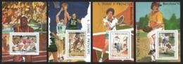 Sao Tome & Principe 1989 Yvert 976-79, Sports. Barcelona 92 Olympic Games - 4 Miniature Sheets - MNH - Sao Tomé E Principe