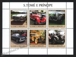 Sao Tome & Principe 2003 Yvert 1596-601, Cars. Vintage Automobiles - Miniature Sheet - MNH - Sao Tomé E Principe