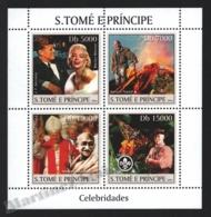 Sao Tome & Principe 2004 Yvert 1818-21, Famous People. Kennedy, Marilyn Monroe, Gandhi - Miniature Sheet - MNH - Sao Tomé E Principe