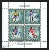 Sao Tome & Principe 2006 Yvert 2014-17, Sports. Football, Germany World Cup, African Players - Miniature Sheet - MNH - Sao Tomé E Principe