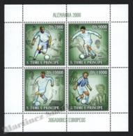 Sao Tome & Principe 2006 Yvert 2018-21, Sports. Football, Germany World Cup, European Players - Miniature Sheet - MNH - Sao Tomé E Principe