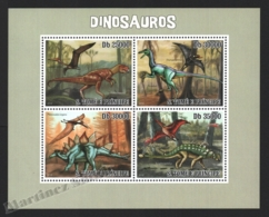 Sao Tome & Principe 2009 Yvert 3386-89, Fauna. Paleontology. Dinosaurs - Miniature Sheet - MNH - Sao Tomé E Principe