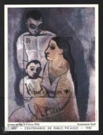 Sao Tome & Principe 1981 Yvert BF 27A, Christmas. Art. Man, Woman & Child, Painting By Picasso - Miniature Sheet - MNH - Sao Tomé E Principe