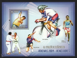 Sao Tome & Principe 2006 Yvert BF 316, Sports. Athens Olympic Games, Athletes - Miniature Sheet - MNH - Sao Tome And Principe