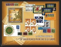 Sao Tome & Principe 2006 Yvert BF 320, Philately. 50th Anniv Europa Stamps - Miniature Sheet - MNH - Sao Tome And Principe