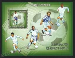 Sao Tome & Principe 2006 Yvert BF 324, Sport. Football, Germany FIFA World Cup, European Players - Miniature Sheet - MNH - Sao Tome And Principe