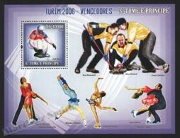 Sao Tome & Principe 2006 Yvert BF 325, Sports. Turin Winter Olympic Games, Winners - Miniature Sheet - MNH - Sao Tome And Principe