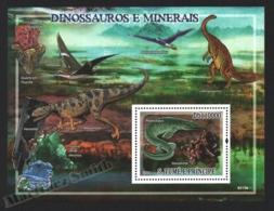 Sao Tome & Principe 2009 Yvert BF 481, Fauna. Paleontology. Dinosaurs. Geology. Minerals - Miniature Sheet - MNH - Sao Tome And Principe