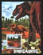 Sao Tome & Principe 2010 Yvert BF 525, Fauna. Paleontology. Dinosaurs - Miniature Sheet - MNH - Sao Tome And Principe