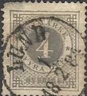 SWEDEN 1872 Numeral - 4ore - Grey FU (see Description) - Oblitérés
