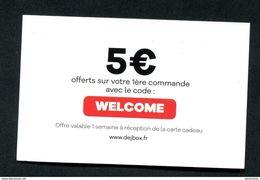 """Bon De 5€ Carte Cadeau - Jeton Carton """"Dej Box"""" Restauration - Ticket Prime Restaurant - Monétaires / De Nécessité"""