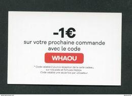 """Bon De -1€ Carte Cadeau - Jeton Carton """"Dej Box"""" Restauration - Ticket Prime Restaurant - Monétaires / De Nécessité"""