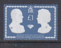 Falkland Islands 2007 Diamond Wedding 1v ** Mnh (48496) - Falkland Islands