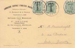 Belgique - TX17 X 2 Sur Carte Postale - 1919 - Impuestos