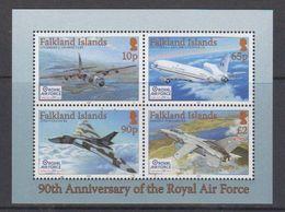 Falkland Islands 2008 90th Ann. Royal Air Force M/s ** Mnh (48497) - Falkland Islands