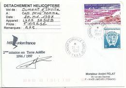 YT 199 Station SODAR - étude Des Vents Catabatiques - Hélicoptère - Dumont D'Urville - Terre Adélie - 22/01/1997 - Briefe U. Dokumente