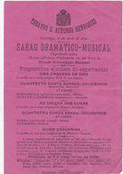PORTUGAL - GUIMARÃES - THEATRO D. AFONSO HENRIQUES - SARAU DRAMATICO-MUSICAL - 1890 - Tickets - Vouchers