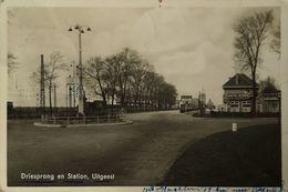 Uitgeest (NH) Driesprong En Station (Cafe) 1943 Zeldzaan - Other