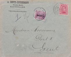 Belgique - TX19 Sur Lettre De Roeselare à Gent - 1919 - Impuestos