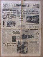 Journal L'Humanité (5 Sept 1963) Vanuxem - Catastrophe Aérienne Suisse - Roberto Seto - 1950 - Oggi