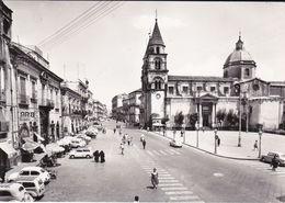 ACIREALE - CATANIA - PIAZZA DUOMO - BAR - AUTO D'EPOCA - BELLA ANIMAZIONE - 1962 - Acireale