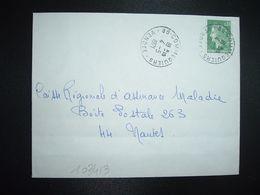 LETTRE TP M. DE CHEFFER 0,30 OBL.4-5 1971 85 COMMEQUIERS VENDEE BOULANGERIE PATISSERIE R.BARDEAU - Marcofilia (sobres)