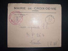 LETTRE MAIRIE OBL.30-9 1964 CROIX DE VIE VENDEE (85) - Marcofilia (sobres)