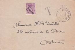 Belgique - TX19 Sur Lettre De Oostende à Oostende - 1919 - Impuestos