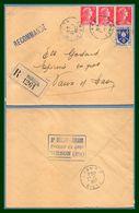 Hirson (Aisne 02 ) Type A 7 1957 /N° Muller + Saintonge / LR Ets Burlot Jorand Epicerie En Gros > Laon RP TA7 - Marcophilie (Lettres)