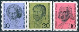 BRD - Mi 616 / 618 - ** Postfrisch (C) - Beethoven, Hegel, Hölderlin - Unused Stamps