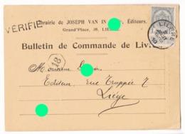 LIER Lierre 1900 Joseph VAN IN éditeur Librairie  Carte Correspondance - Lier