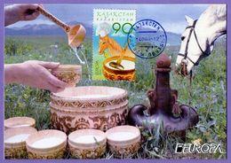 Kazakhstan 2005. Maxicard. Europa 2005. Europa-CEPT. Gastronomy. Maximum Cards. - Europa-CEPT