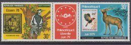 "Rwanda PA N° 12 / 13a XX Exposition ""philexarique II"", Le Triptyque Sans Charnière, TB - Rwanda"