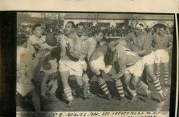 Rugby * Bègles Vs Dax * Photo Ancienne Miroir Sprint * Sport Match Les Frères Moga - Rugby