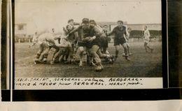 Rugby * Bergerac Vs Valence * Photo Ancienne Miroir Sprint * Sport Match Marot Melée - Rugby